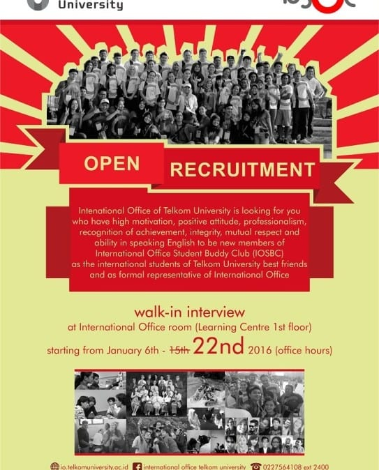 Open Recruitment : International Office Student Buddy Club