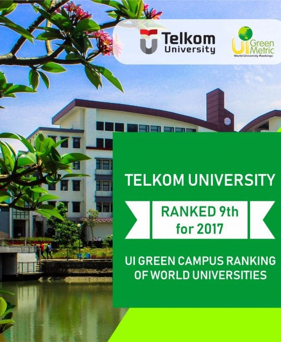 Telkom University Top 10 as a Green Campus in Indonesia