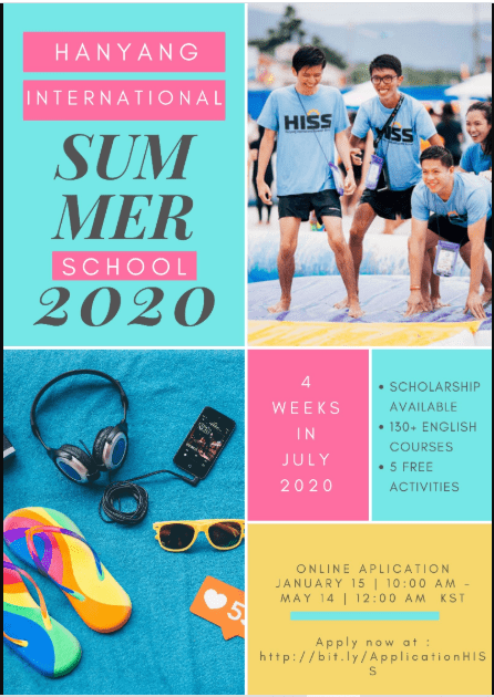 Hanyang University Summer School 2020