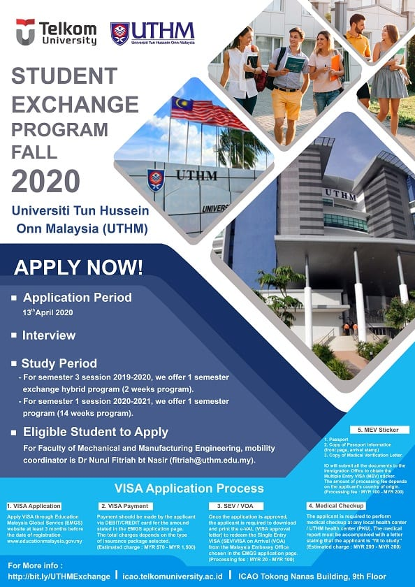 UTHM Student Exchange Fall Program 2020