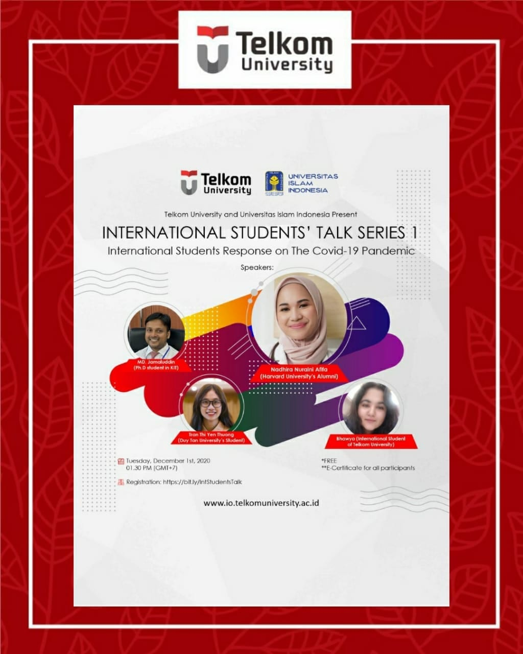 International Students' Talk Series I