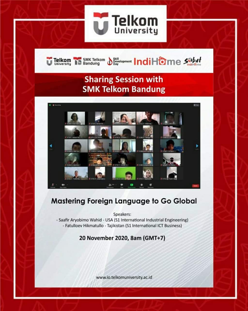 Mastering Foreign Language to Go Global, Sharing Session with SMK Telkom Bandung