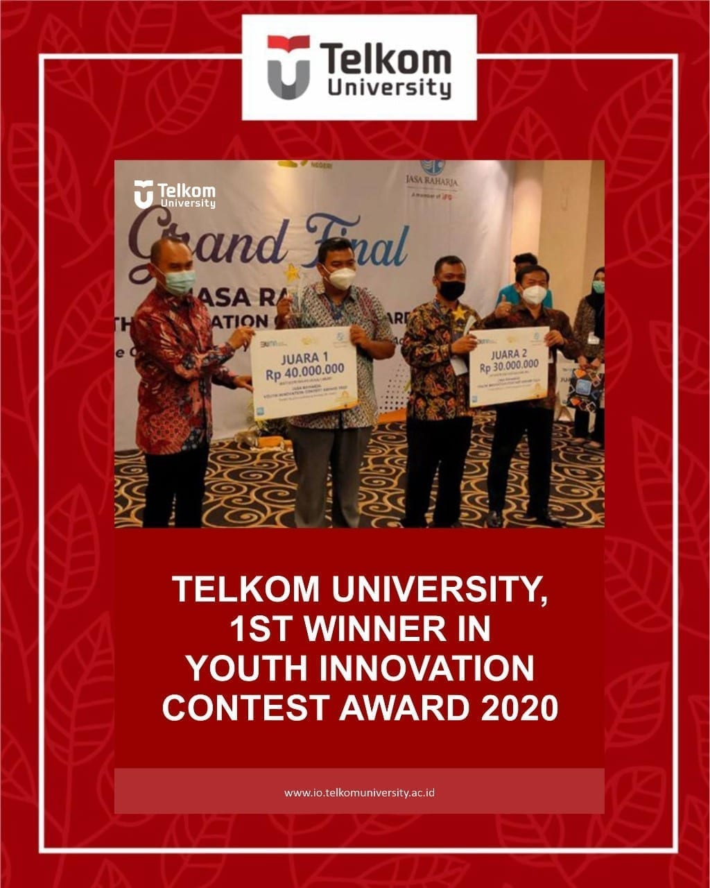 Telkom University Won the Youth Innovation Contest Award 2020