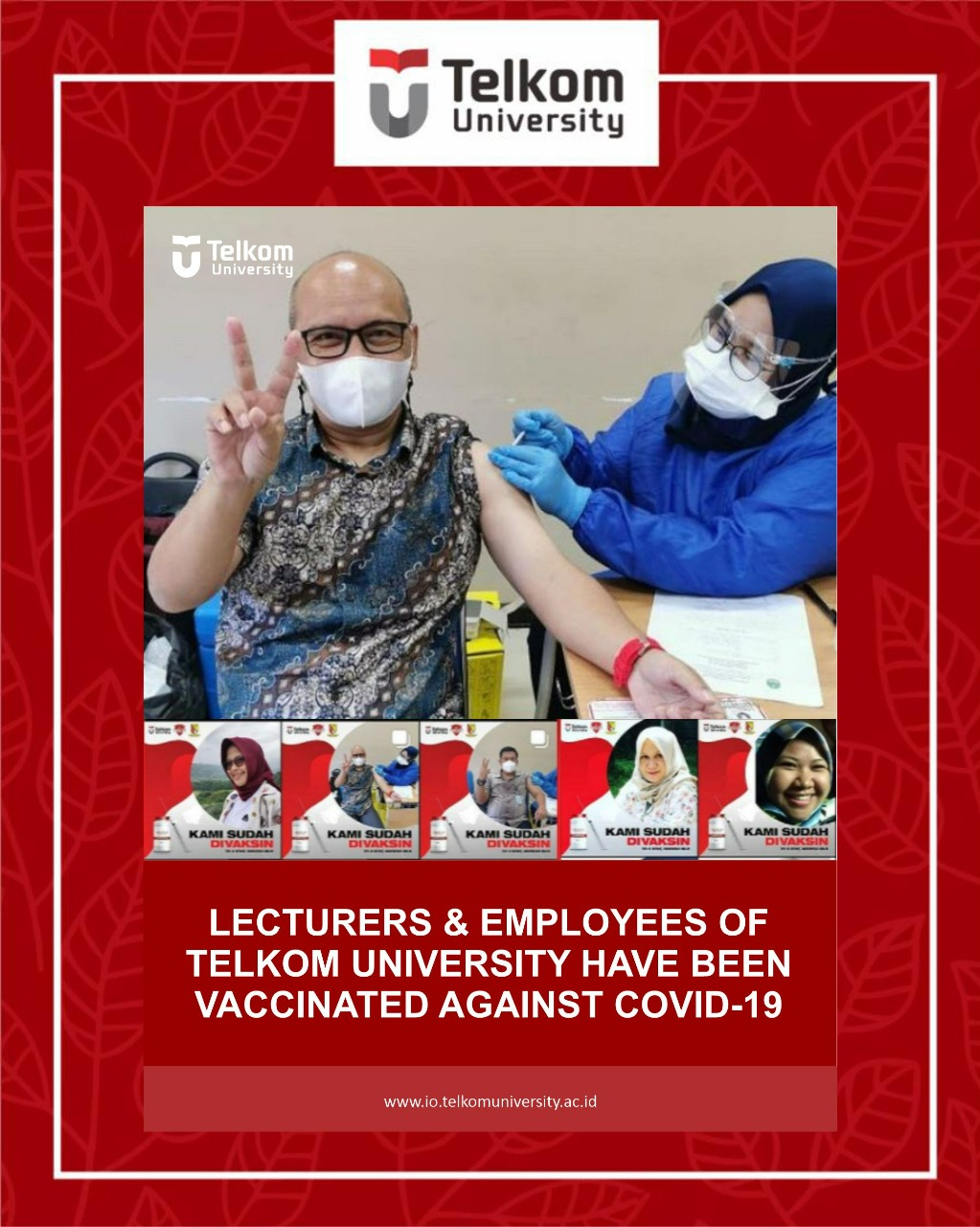 Lecturers and Employees of Telkom University Vaccinated!